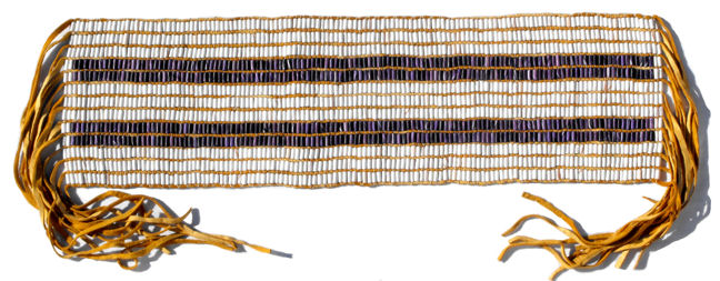 how to make a wampum belt with beads